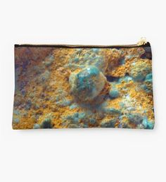 Bubbly Turquoise with Dusty Rust Studio Pouch - Makeup Bag #makeupbag