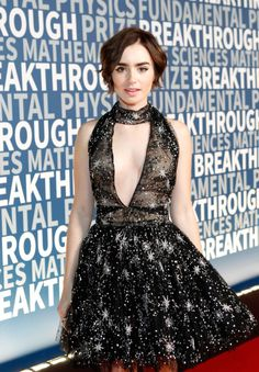 Lily Collins - 2016 Breakthrough Prize Ceremony (November 8, 2015)
