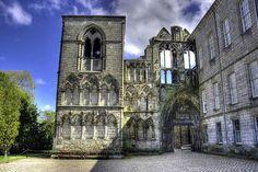 Holyrood Abbey in Edinburgh, Scotland