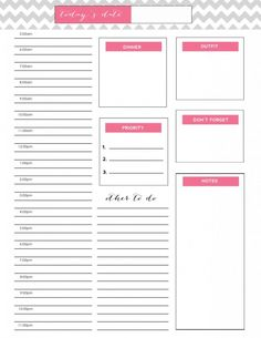 Free Chevron Daily Docket Printable to organize your days | jennycollier.com