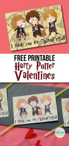 """I think you are """"wand""""erful. Go now to download these Free Printable Harry Potter Valentines! Great for classrooms!"""