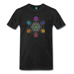 Metatrons Cube, Chakras, Cosmic Energy Centers T-Shirt | Spreadshirt | ID: 28498337