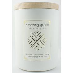 Amazing Grace Candle  By: Ethics Supply Company  $ 36.00 Aromatherapy Candles, Amazing Grace, Candle Jars, Gifts, Presents, Favors, Gift