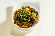 Spicy Soba with Shiitakes and Edamame