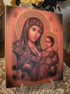 Icono de la Santísima Madre de Dios hecho a por Iconikonaikone2014