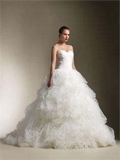 White Ball Sweetheart Tulle Wedding Dresses