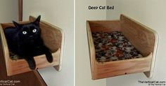 New Wall Mounted Deep Cat Bed from The Vertical Cat - pretty sure I'll just use an old dresser drawer and save some money.