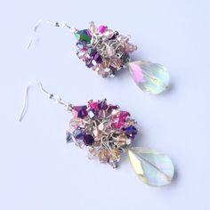 Swarovski crystal earrings 925 elegant earrings single couture creation de la…