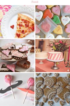 A few inspirations - I have never seen the pizza /pepporonie shaped like a heart - where have I been?    More Design Please - MoreDesignPlease - Valentines Party Excuse