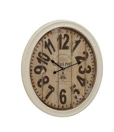 shabby White Nautical Style Metal Wall Clock Porthole Home Decor