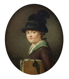 Portrait of a young girl, French School, 18th Century