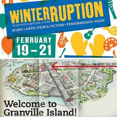 """#Winterruption starts today and runs until the 21st! """"Vancouver's favourite winter festival celebrates its 11th year with music dance film theatre art food craft indoor and outdoor activities and so much more!"""" While you're here checking everything out come pay us a visit and say hi. We're located in the Creekhouse building right next to @the_sandbar and between the public market and Ocean Concrete. 'Til then!  #Vancouver @granville_island #hi #hello #events #festival #fun #shoplocal #sports…"""