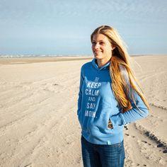 Maritimer Frauen Hoodie von Heimatmeer 'MOIN.' >>