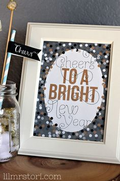 New year printable and some festive decoration ideas
