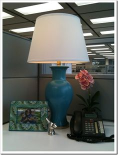 Desire to Decorate: My Workspace Makeover Cubicle Makeover, Office Makeover, Cubical Ideas, Cubicle Design, Cube Decor, Office Space Decor, Small Workspace, Office Cubicle, Decorate Cubicle