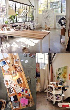 Elle Luna's studio                                                                                                                                                     More