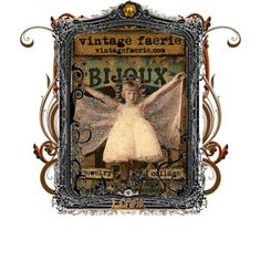 Vintage Fairy Framed Art -Created by Wingweaver