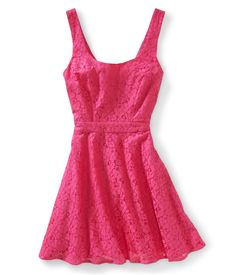 Lace Tie-Back Dress from Aeropostale
