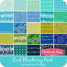 Cool Blueberry Park Charm Pack<BR>Karen Lewis Textiles for Robert Kaufman Fabrics