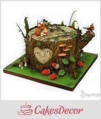 Tree stump cake - CakesDecor
