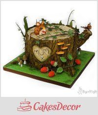 Tree stump cake - CakesDecor
