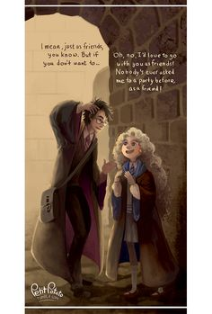 Harry Potter when he invited Luna Lovegood to Slughorn's Christmas party. Harry Potter, als er Luna Lovegood zu Slughorns Weihnachtsfeier einlud. Blaise Harry Potter, Harry Potter Love, Harry Potter Universal, Harry Potter World, Harry Potter Friendship, Fanart Harry Potter, Ravenclaw, Hogwarts, Harry Potter Anime