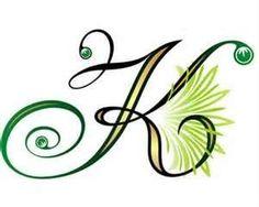 Letter K Design... K Design Tattoo