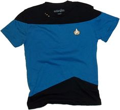 Science Blue Paneled Uniform -- Star Trek: The Next Generation T-Shirt, XXX-Large Officially licensed Star Trek: The Next Generation product Cool Science Blue Paneled Uniform design Soft polycotton Blue/Black Star Trek Theme, Uniform Design, Branded T Shirts, Fashion Brands, Halloween Costumes, Polo Ralph Lauren, Science, Stars, Mens Tops