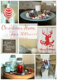 Red & Teal Themed Christmas Home Tour - (part 2 of 3) - Artsy Chicks Rule