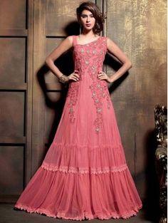 Pink Embroidered Anarkali Dress