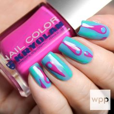 Kryolan Professional Make-up Swirled Nail Art