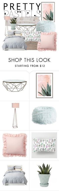 """pastels"" by sarahchirch on Polyvore featuring interior, interiors, interior design, home, home decor, interior decorating, EASTON, Jayson Home, Art Addiction and Catalina"