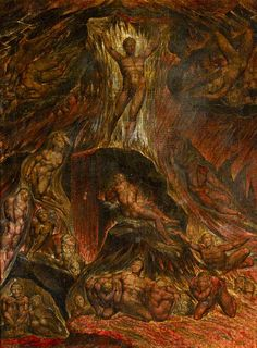 'Satan calling up his Legions' (from John Milton's 'Paradise Lost'), by William Blake, c. As Foster Damon notes, Satan represents Morality, the. William Blake Paintings, William Blake Art, William Hogarth, Angels And Demons, Dark Angels, Art Uk, Classical Art, Lost Art, Religious Art