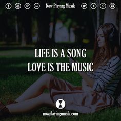 Life is a song, love is the music.  #music #quotes #quote #song #love #dance #edmfamily #trancefamily #festival