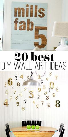 20 of the best DIY art ideas - perfect for you to make something for every room in your home.