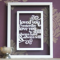 Personalized Papercut 'Loved you yesterday love you by antdesign, £15.00