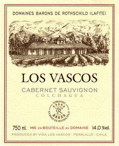 Los Vascos Cabernet Sauvignon 2010 from Chile - Brilliant red ruby color. Deep and pleasant mature fruit such as dark cherries, blackberries and plums. Notes of raspberry jam, candied fruit and white chocola.