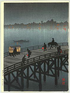 Koho Shoda 1871?-1946? - Oh-hashi Bridge at Atako
