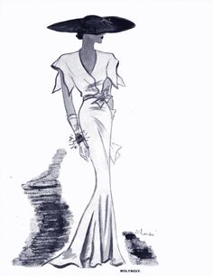 1934 Molyneux don't you wish you knew her? 1930s Fashion, Fashion Art, Retro Fashion, Vintage Fashion, Fashion Design, Chanel Fashion, Vintage Dresses, Vintage Outfits, Fashion Words
