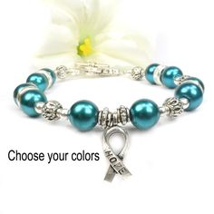 Cancer awareness bracelets in your choice of colors