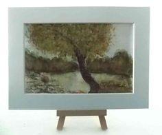 Aquarell - Baum am See - MarikArt