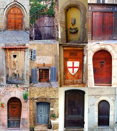 The Doors of Seillans, Provence by sherls, via Flickr