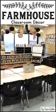 farmhouse style classroom * klassenzimmer im landhausstil * aula estilo casa de campo Classroom Layout, Classroom Decor Themes, New Classroom, Classroom Setting, Classroom Design, Classroom Organization, Classroom Ideas, Chalkboard Classroom, Classroom Birthday Board