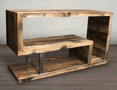 Reclaimed Wood Bench / Coffee Table choose your size Rustic Tv Console, Wood Table Rustic, Console Tv, Wooden Bar, Coffee Table Bench, Rustic Coffee Tables, Table En Bois Diy, Muebles Living, Raw Wood