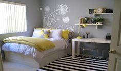 grey yellow turquoise bedrooms - Google Search