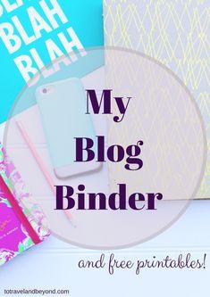 Blog Binder Free Printable's!