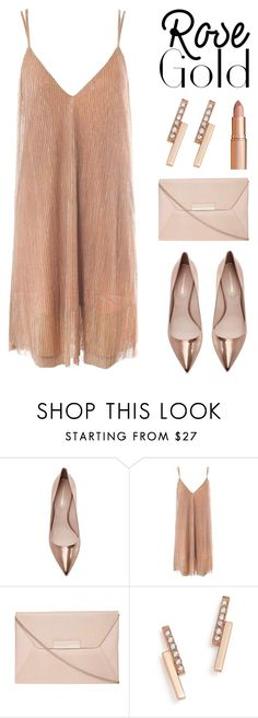 """""""So Pretty: Rose Gold Jewelry"""" by lgb321 ❤ liked on Polyvore featuring Nicholas Kirkwood, Sans Souci, Dorothy Perkins, ZoÃ« Chicco, Charlotte Tilbury and rosegold"""