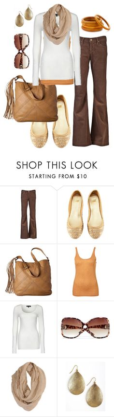 """""""ready for fall"""" by htotheb ❤ liked on Polyvore featuring Citizens of Humanity, H&M, Mossimo, Scoop, MANGO, Forever 21, Helene Jewelry, Panacea, white and orange"""