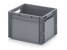 26 Litre Small Euro Plastic Stacking Container - Stackable Straight Sided Storage Box