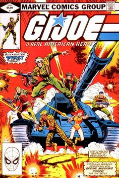 G.I.JOE: A Real American Hero Vol 1 #1 (1982) Marvel Comics cover by Herb Trimpe and Bob McLeod. This is one of the comics that I really like because it started off the entire GI Joe series and with Marvel it would run for a total of 155 issues.